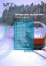 Utvalgte lover og forskrifter med kommentarer - Statens jernbanetilsyn