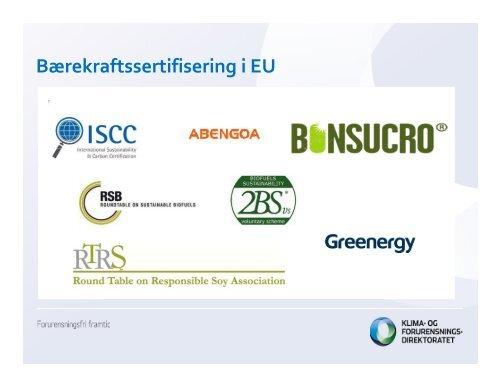 Biodrivstoff og bærekraftskriterier