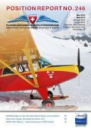 POSITION REPORT NO. 246 - AOPA Switzerland