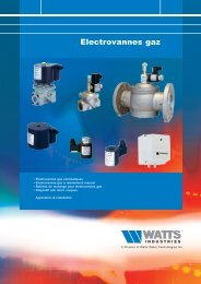 Electrovannes gaz - Watts Industries