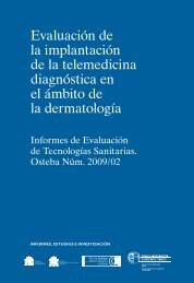 Evaluación de la implantación de la telemedicina ... - Euskadi.net