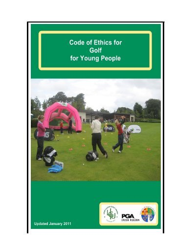 Code of Ethics for Golf 2013 - Junior Golf Ireland