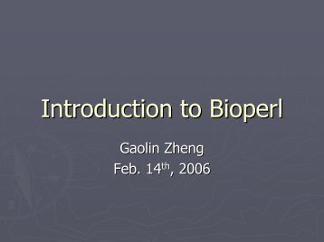 Introduction to Bioperl