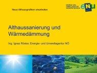 Althaussanierung Vortrag KEM Scheibbs 2012