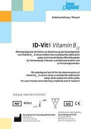 Vitamin B 12 - bei Immundiagnostik