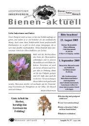 bienen-aktuell Nr. 37.pmd - Liechtensteiner Imkerverein