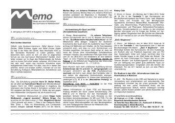 Memo Februar (II) 2012 (Nr. 7) - Gymnasium Marktoberdorf