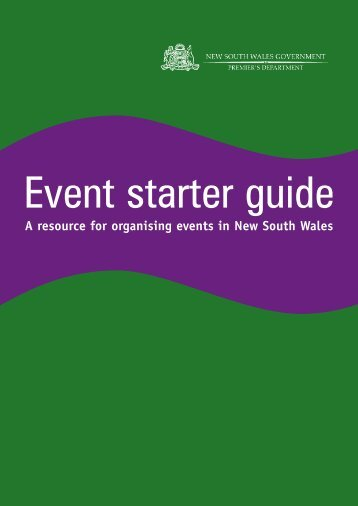 Download Event Starter Guide - the National Capital Authority