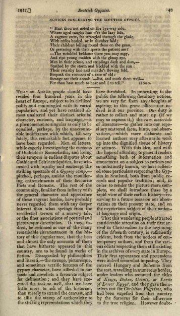 notices concerningthe scottish gypsies. - Electric Scotland