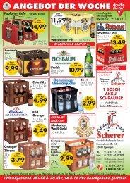 ANGEBOT DER WOCHE -  Getränkefachmarkt Scherer