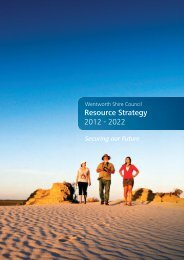 Resource Strategy 2012 - 2022 - Wentworth Shire Council