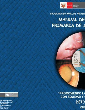 MANUAL DE ATENCIÓ PRIMARIA DE SALUD OCU - Instituto ...