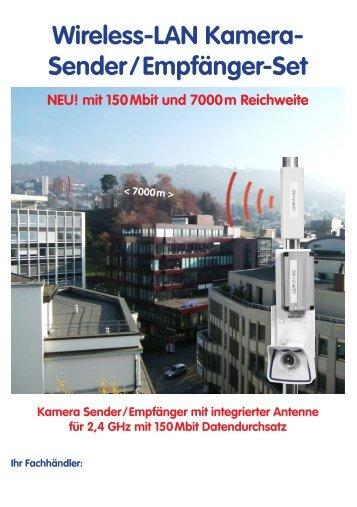 Wireless-LAN Kamera- Sender/Empfänger-Set - Repro Schicker AG