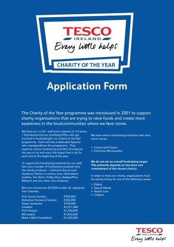 Application Form - Tesco