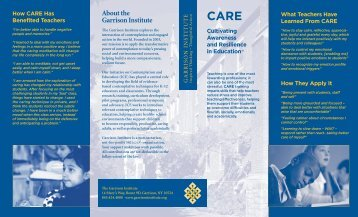 CARE brochure. - Prevention Research Center - Penn State University