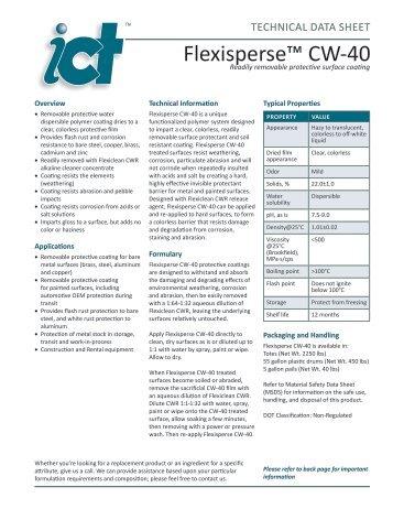Flexisperse™ CW-40 - Innovative Chemical Technologies, Inc.