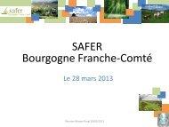 SAFER Bourgogne Franche-Comté - Réseau Rural Français