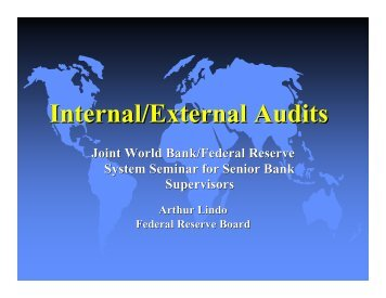 World Bank 02 Internal External Audit