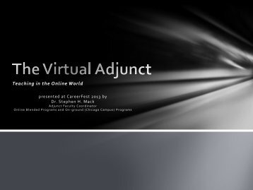 The Virtual Adjunct