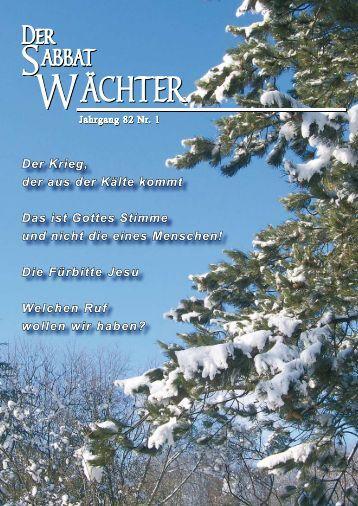 Jahrgang 82 Nr. 1 - Reformierte Siebenten-Tags-Adventisten in ...