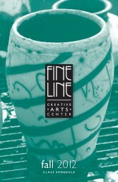 CLASS SCHEDULE - the Fine Line Creative Arts Center