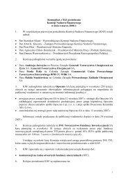 Komunikat z XLI posiedzenia Komisji Nadzoru Finansowego w dniu ...