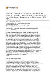 POL-DH: + Brand in Eydelstedt - Anhänger mit Stroh in ... - Firmendb