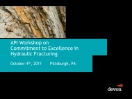 API Workshop on Commitment to Excellence in Hydraulic Fracturing