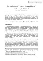 technical report TR-90-01 - Department of Computer Science, HKU ...