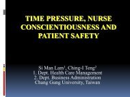 Time Pressure, Nurse Conscientiousness and Patient Safety - IUPUI
