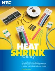 Heat Shrink Tubing Brochure - NTE Electronics
