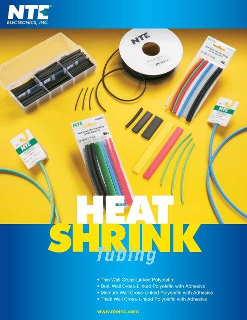 6 Length NTE Electronics 47-25806-G Heat Shrink Tubing 3:1 Shrink Ratio Green 1 1//2 Diameter Pack of 2 Dual Wall with Adhesive 1 1//2 Diameter 6 Length Inc.