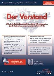 Schriftlicher Lehrgang: Der Vorstand - Management Circle AG
