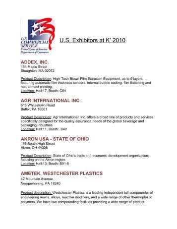 U.S. Exhibitors at K' 2010