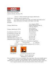 MSDS Cadmium chloride