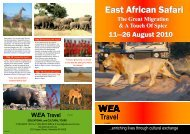 East African Safari East African Safari - WEA