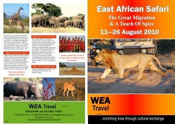 East African Safari East African Safari - WEA