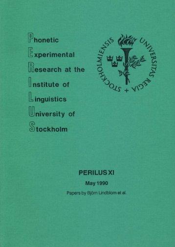 PERILUS 11 - 1990