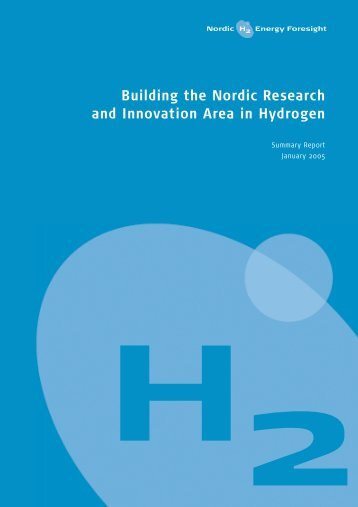 Building the Nordic Research and Innovation Area in Hydrogen