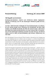 100 MegaBit und Info-Points - Hamburger Volksbank