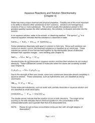 Aqueous Reactions and Solution Stoichiometry - Grandview C-4 ...