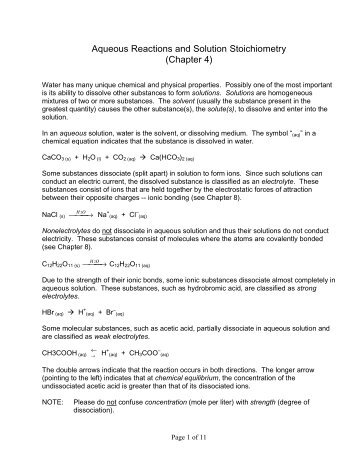 Solution Stoichiometry Worksheet - Sharebrowse