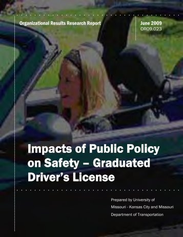 Impacts of Public Policy on Safety – Graduated Driver's License