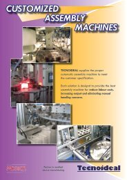 CUSTOMIZED ASSEMBLY MACHINES - Tecnoideal Srl