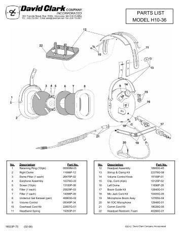 model h10 36 parts list david clark company incorporated?quality\=85 david clark h10 76 wiring diagram becker wiring diagram \u2022 wiring david clark h10-76 wiring diagram at panicattacktreatment.co
