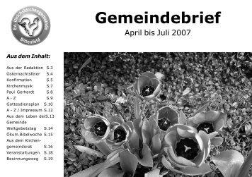 Gemeindebrief 03-2007