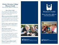 Brochure 1 - Trinity Christian College