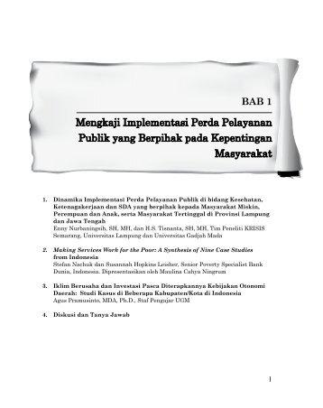 Mengkaji Implementasi Perda Pelayanan Publik ... - psflibrary.org