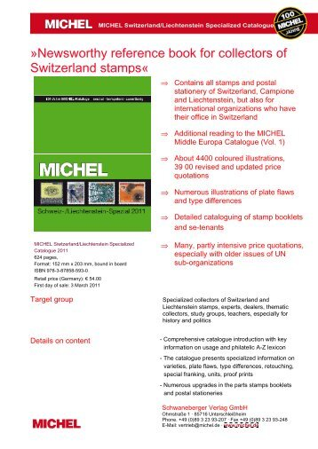 Newsworthy reference book for collectors of ... - briefmarken.de