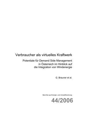 Verbraucher als virtuelles Kraftwerk - NachhaltigWirtschaften.at